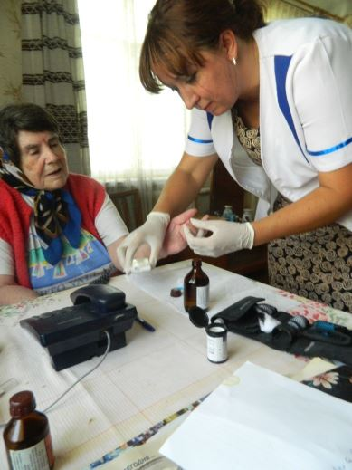 The care center and the mobile service in the Kharkiv region