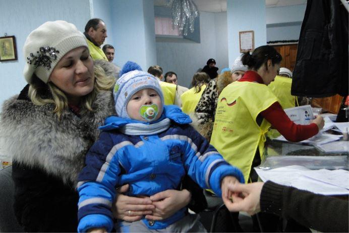 Помощь внутренним переселенцам Украины. Программа «Зимняя помощь»